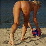 Naked Beach Volley Icon